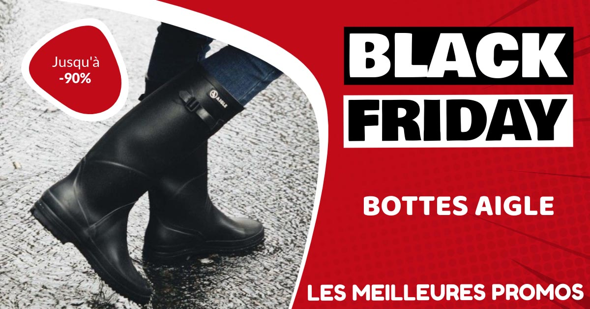 Bottes Aigle Black Friday : les meilleures offres et promos