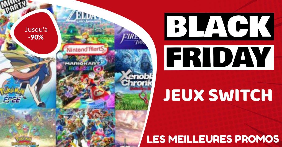 Jeux Switch Black Friday : les meilleures offres et promos